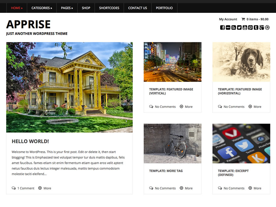 Apprise free wordpress theme