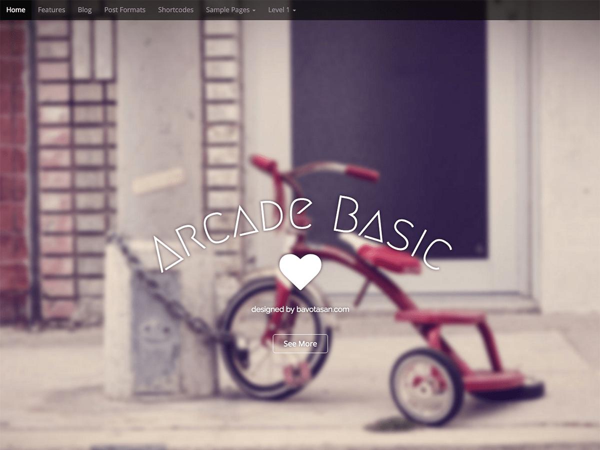 Arcade Basic wordpress theme