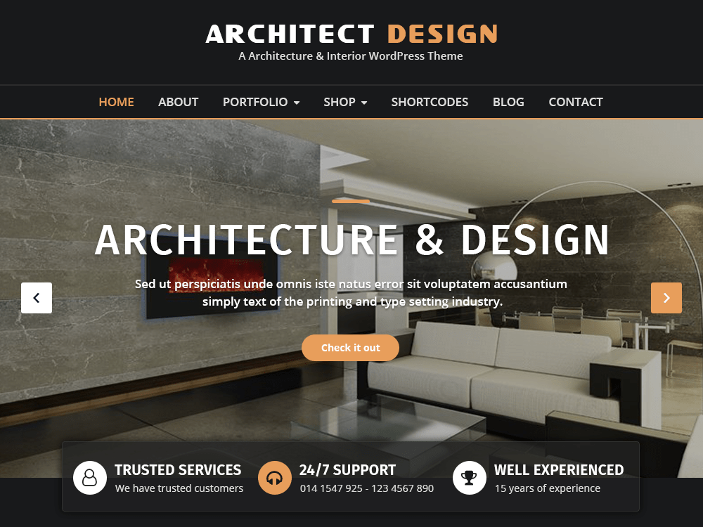 WordPress主题:Architect Design