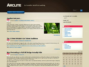 Arclite free wordpress theme