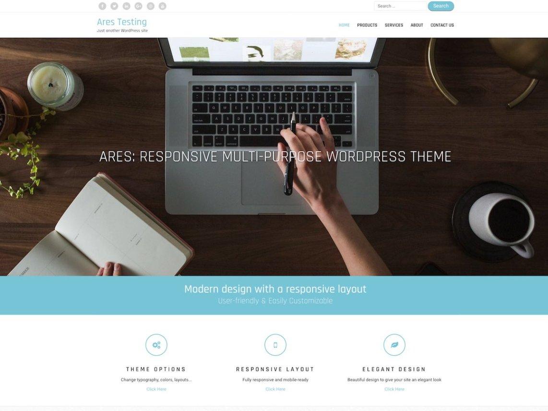 Ares - WordPress theme | WordPress org