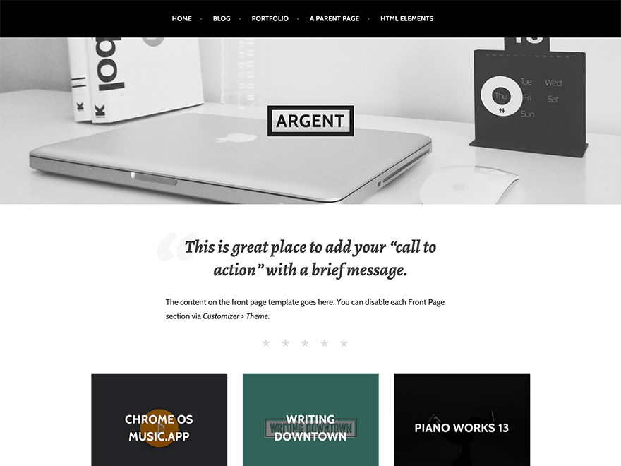 Argent free wordpress theme