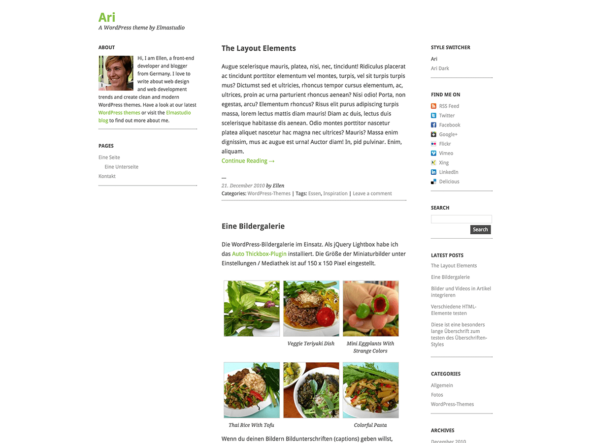 Ari free wordpress theme