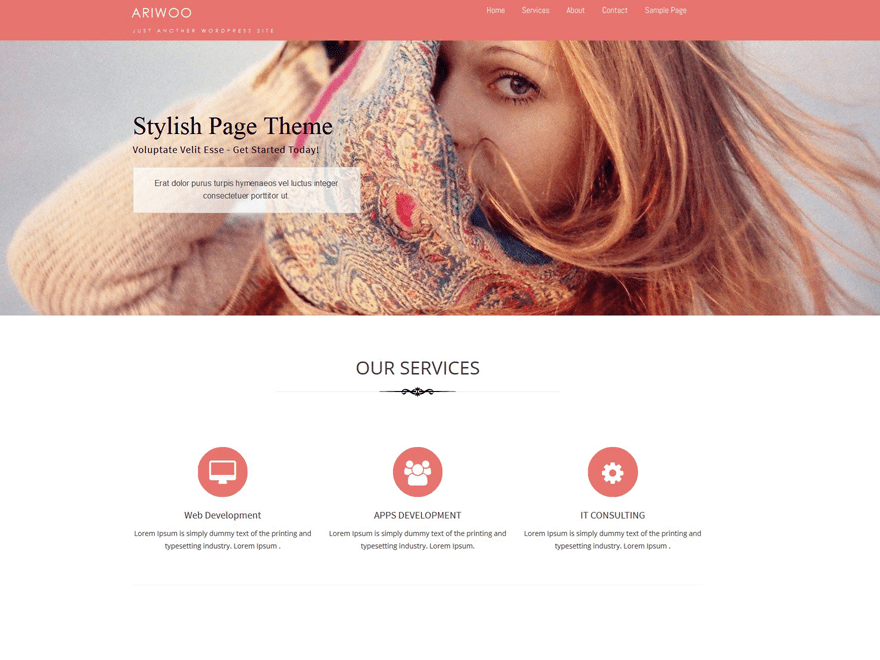 Ariwoo free wordpress theme