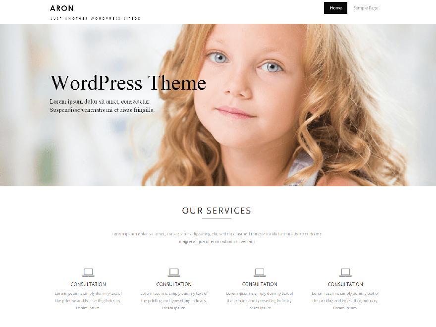 Aron free wordpress theme