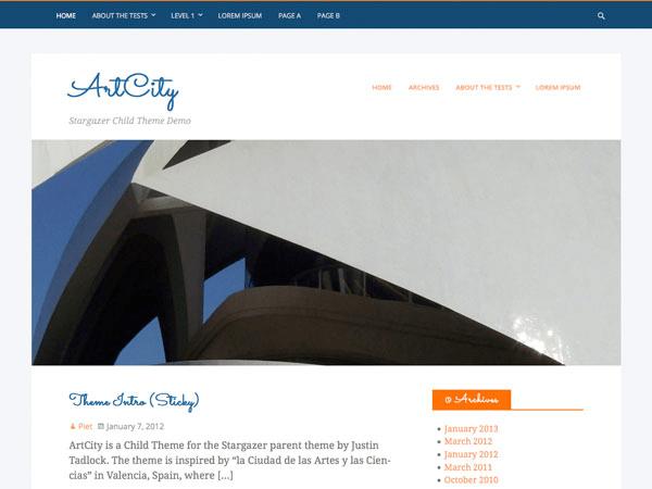 ArtCity theme wordpress gratuit