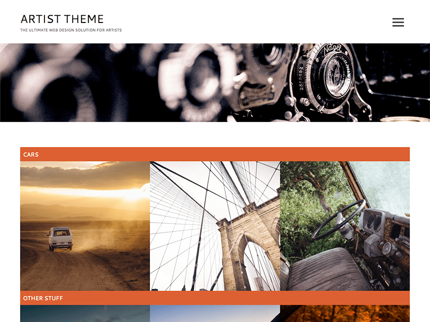 Artist Lite wordpress theme