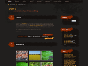 Artistic free wordpress theme