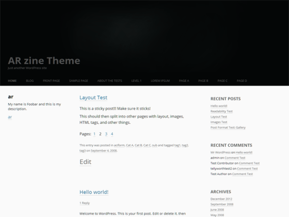 arzine wordpress theme