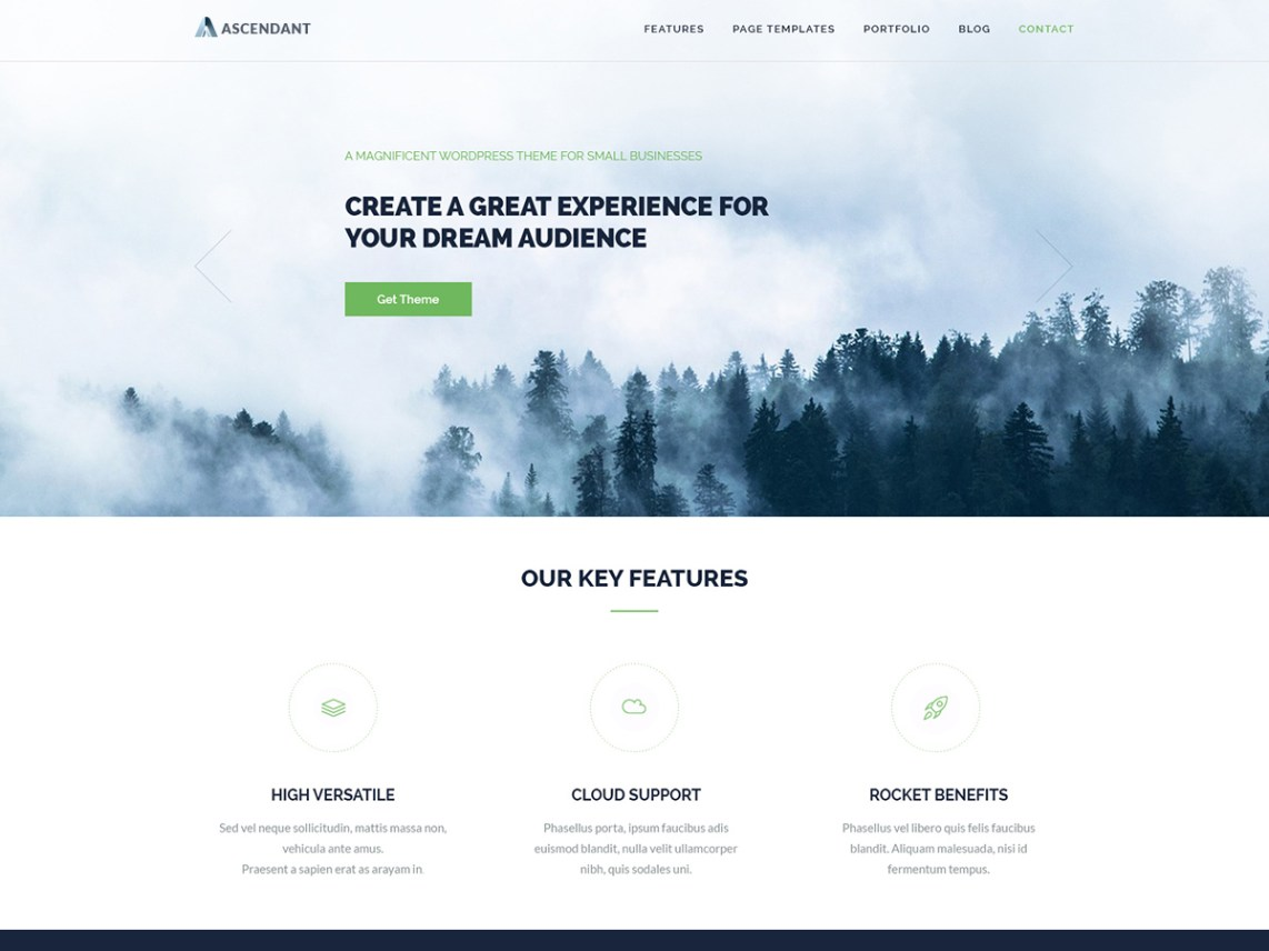 Ascendant for If page template wordpress