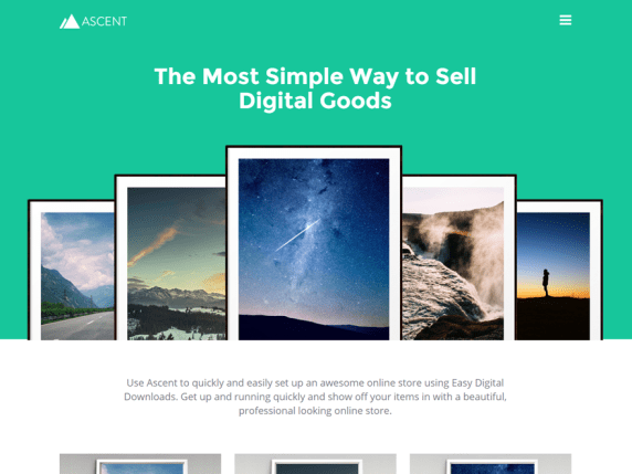 Ascent Light wordpress theme