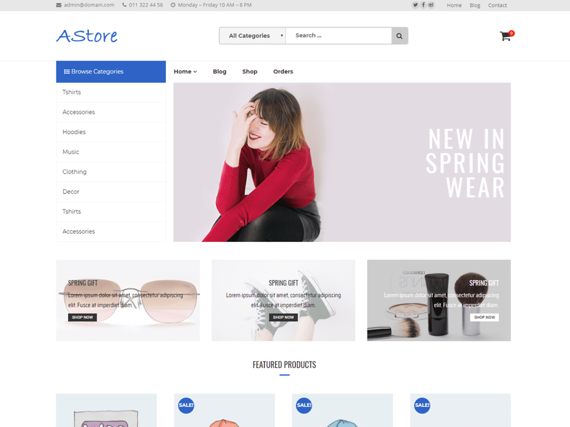 AStore Theme Free Download