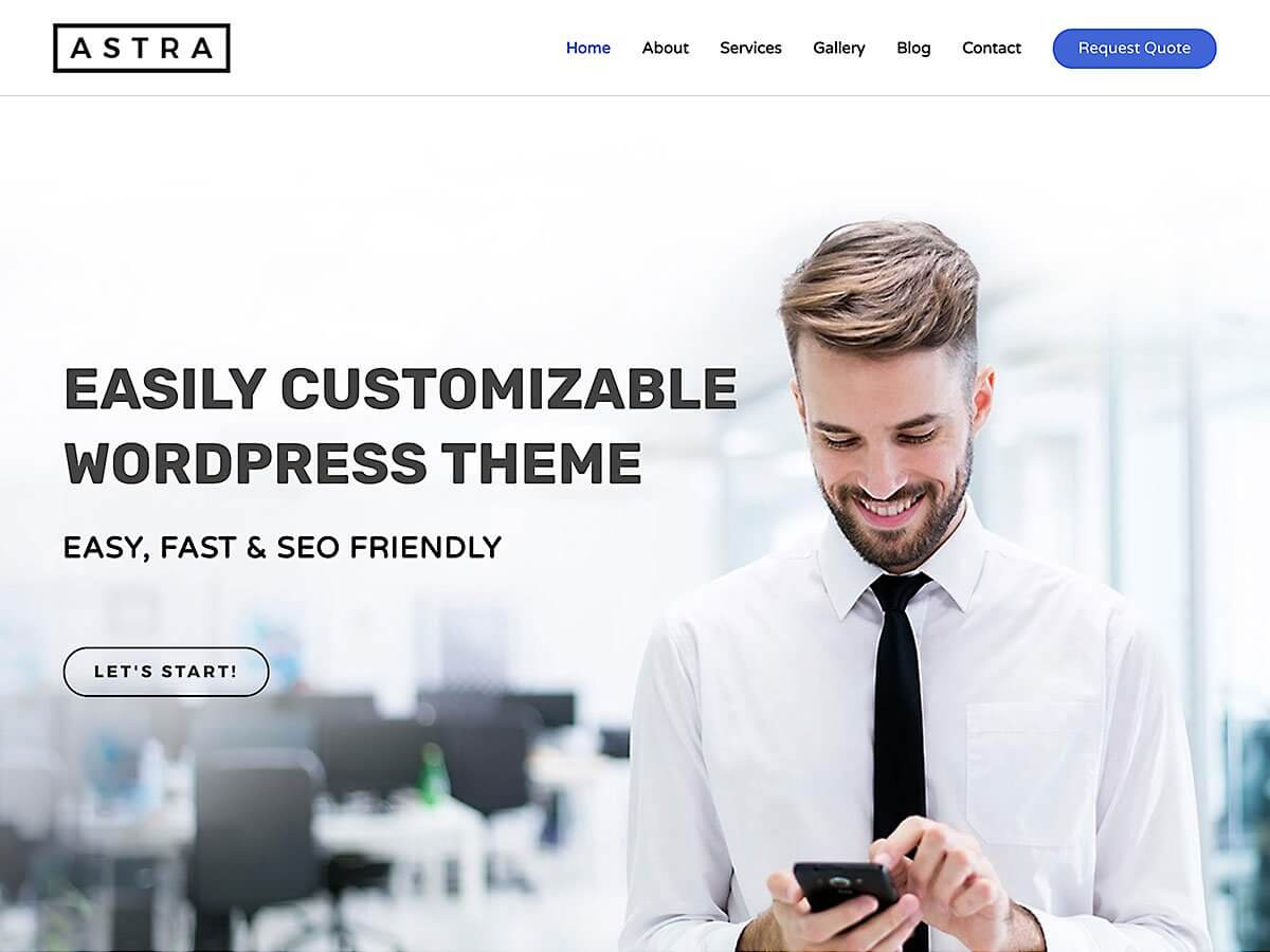 WordPress тема: Astra