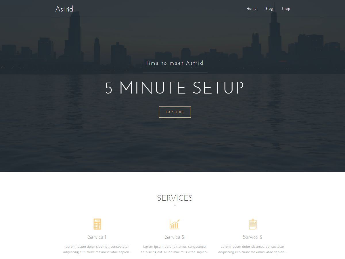 demo of Astrid WordPress theme