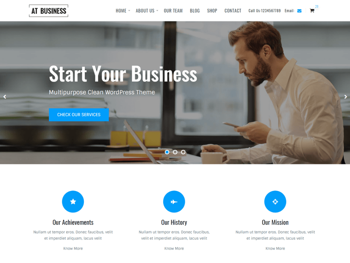 AT Business Theme Free Download