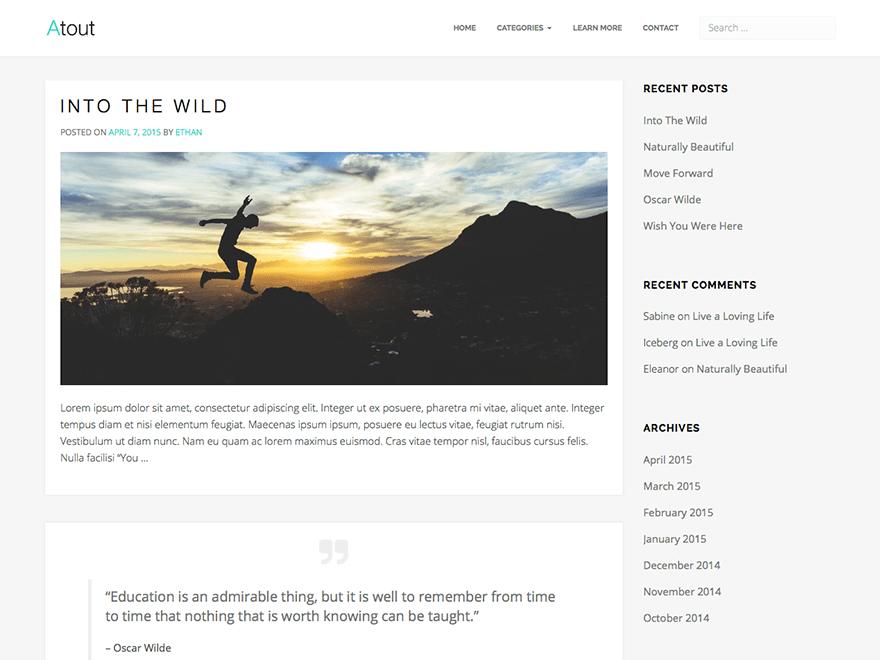 Atout free wordpress theme