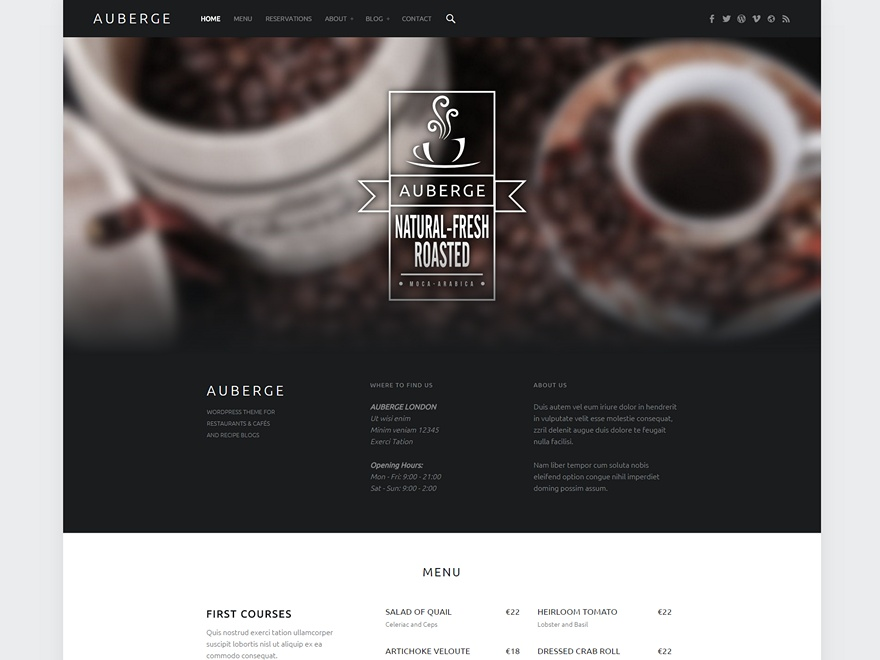 Auberge wordpress theme