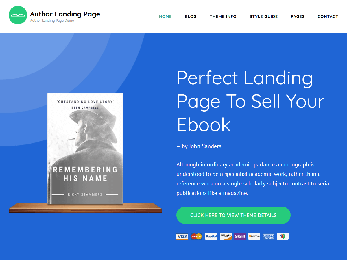 Author Landing Page - Theme WordPress   WordPress.org tiếng Việt