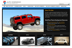 Auto Dezmembrari free wordpress theme