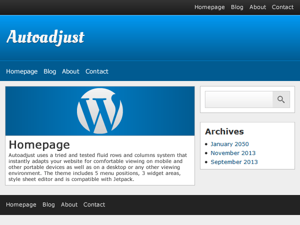 Autoadjust free wordpress theme