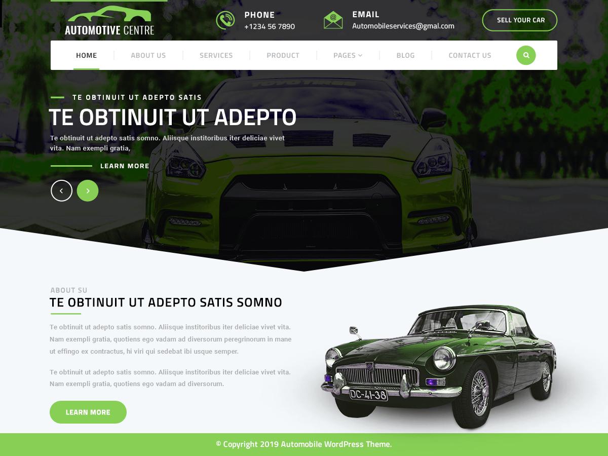 WordPress主题:Automotive Centre