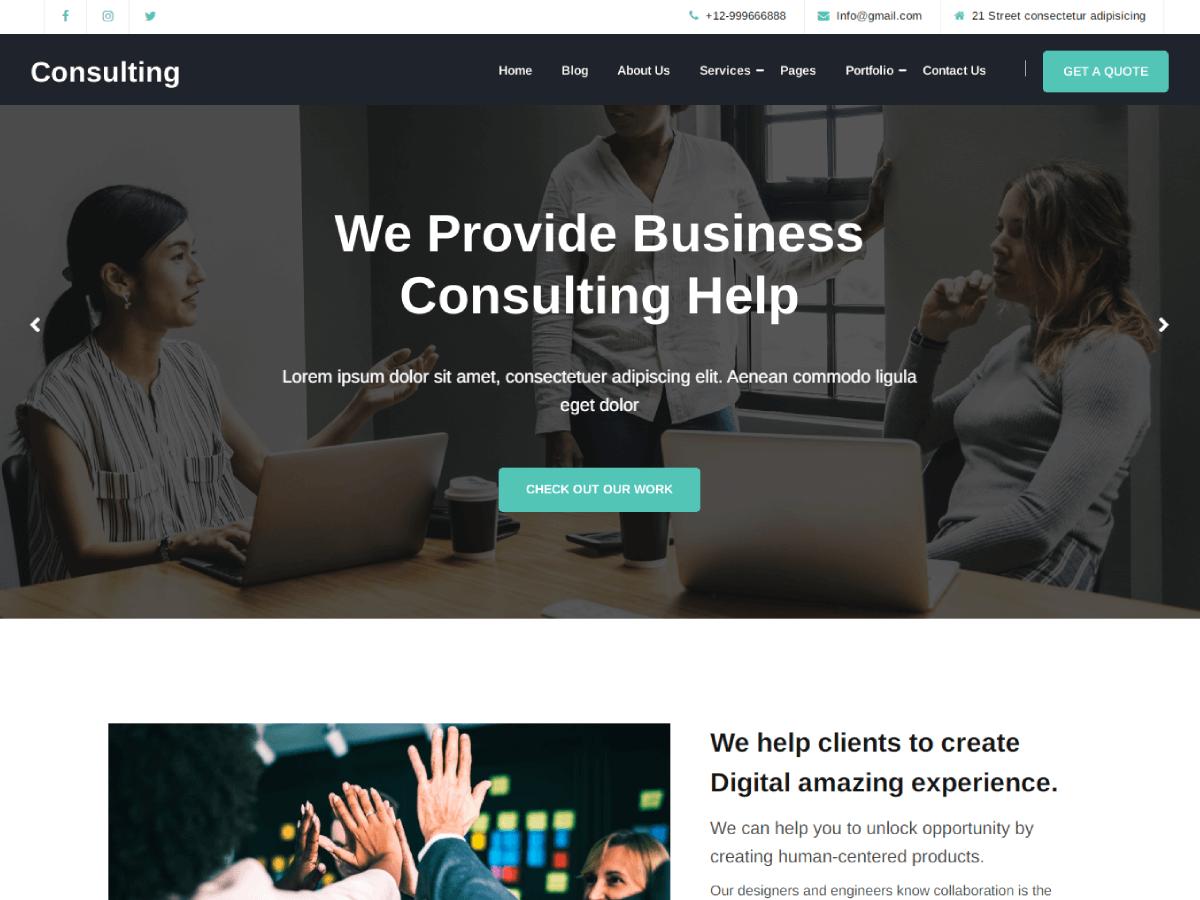 WordPress主题:Avadanta Consulting