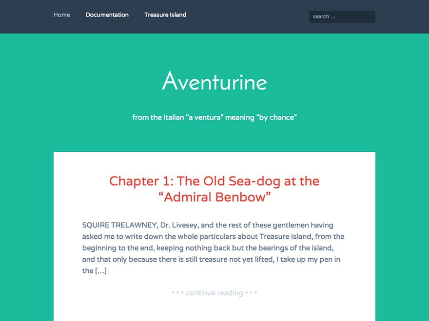 Aventurine free wordpress theme