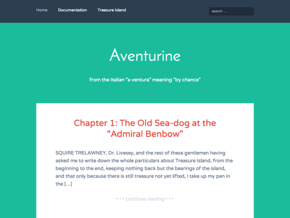 Aventurine wordpress theme