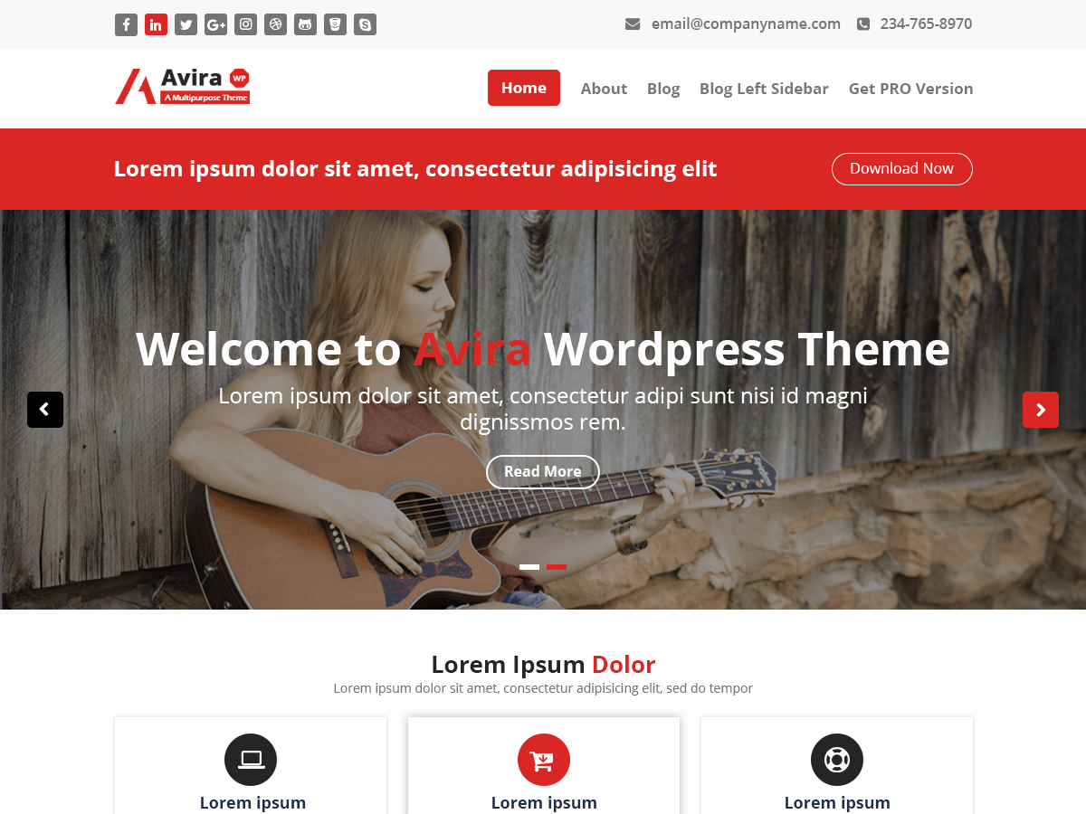 Avira - WordPress theme | WordPress.org (فارسی (افغانستان