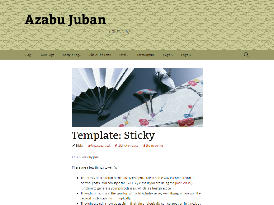 Azabu-Juban free wordpress theme