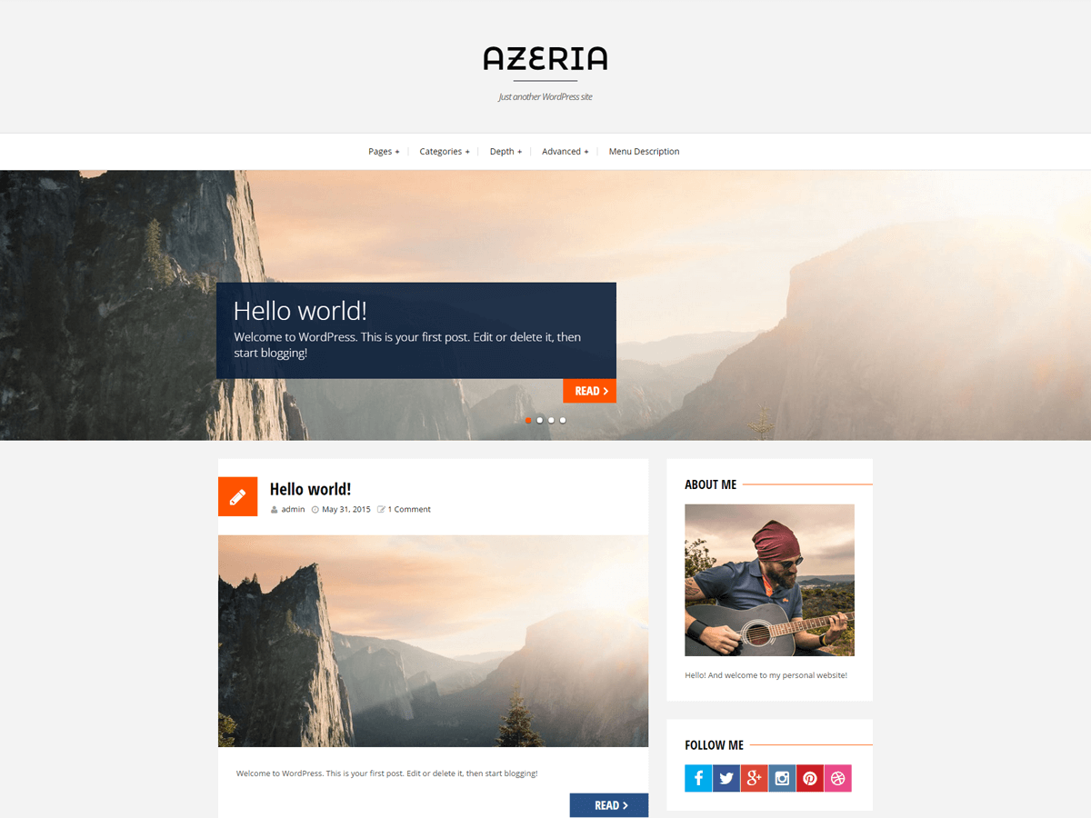 azeria-free-wordpress-theme