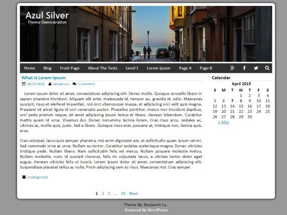 Azul Silver wordpress theme