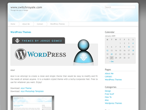 Azul wordpress theme