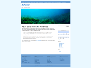 Azure Basic free wordpress theme
