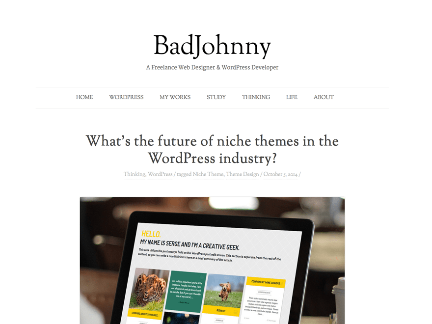 BadJohnny free wordpress theme