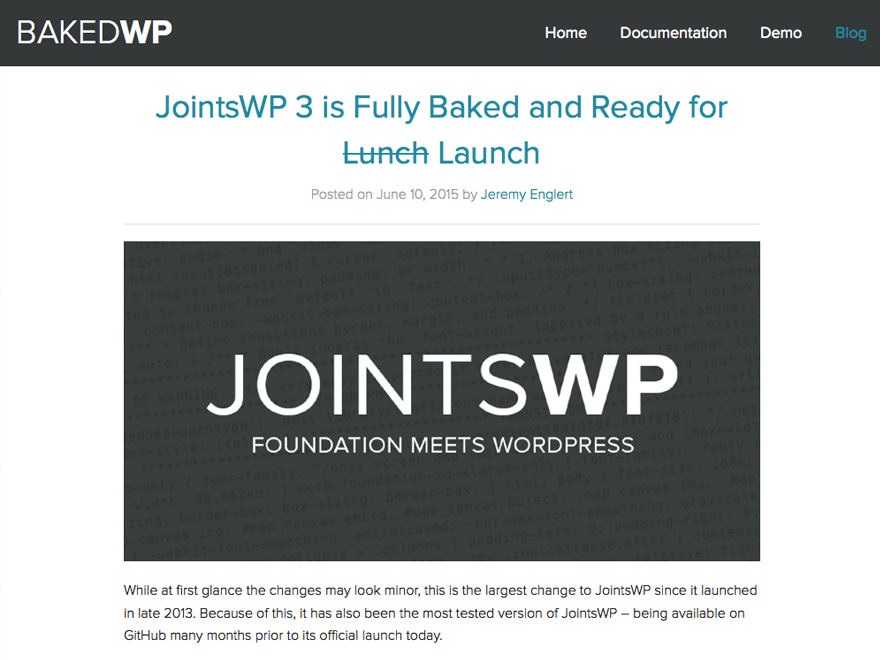 BakedWP free wordpress theme
