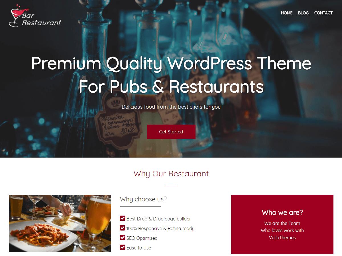 Bar Restaurant - Tema WordPress | WordPress.org Venezuela