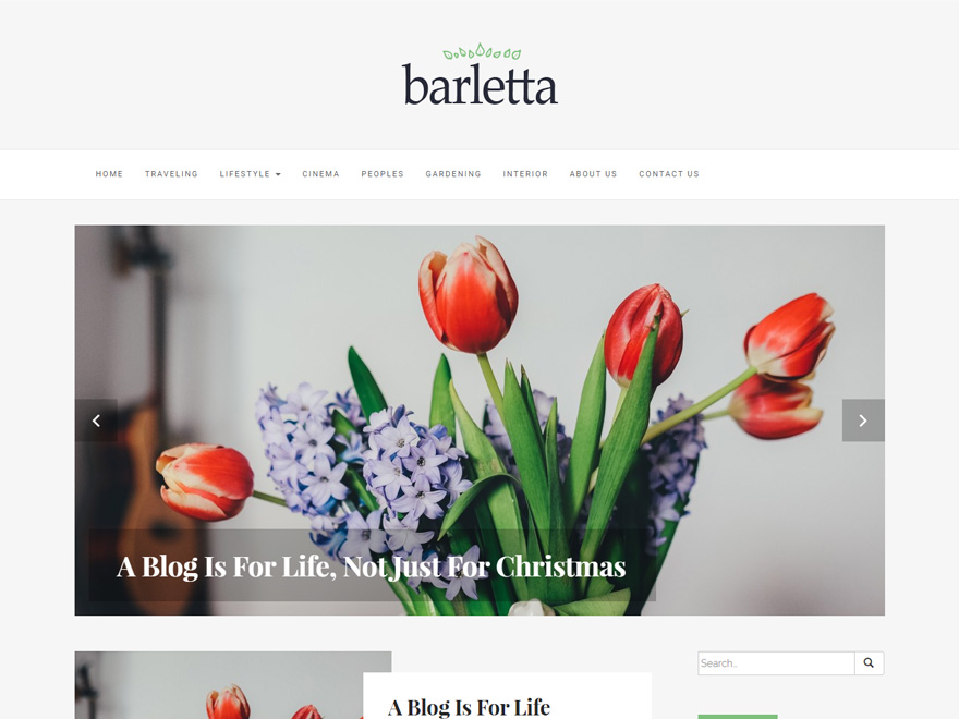 Barletta free wordpress theme