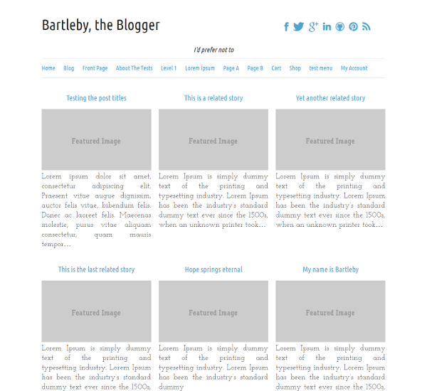 Bartleby wordpress theme