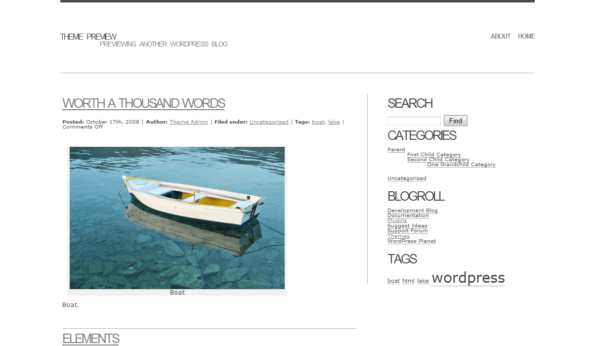 Basal free wordpress theme