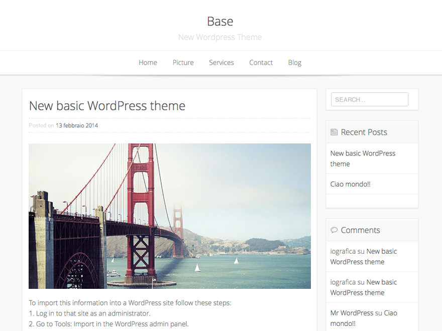 Base WP free wordpress theme