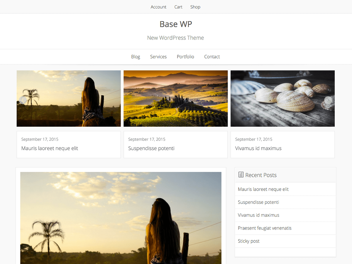 Base Wp wordpress theme