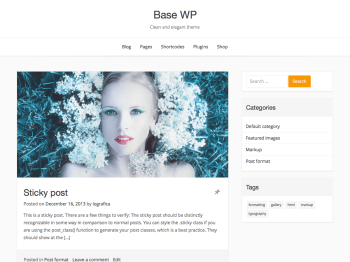 Base WP child theme