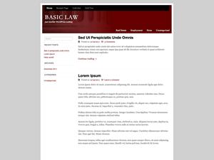 Basic Law wordpress theme