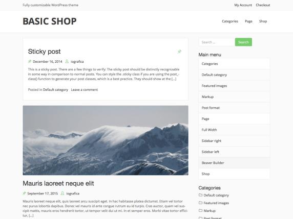 Basic Shop | WordPress.org