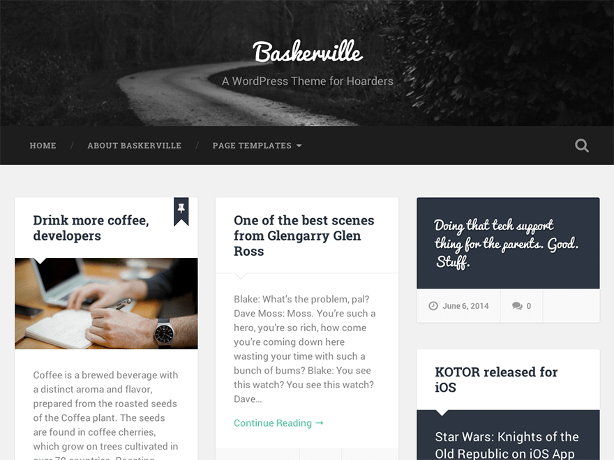 WordPress тема: Baskerville