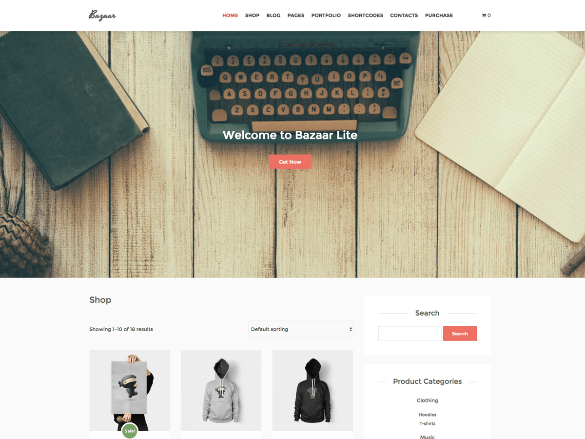 Bazaar Lite free wordpress theme