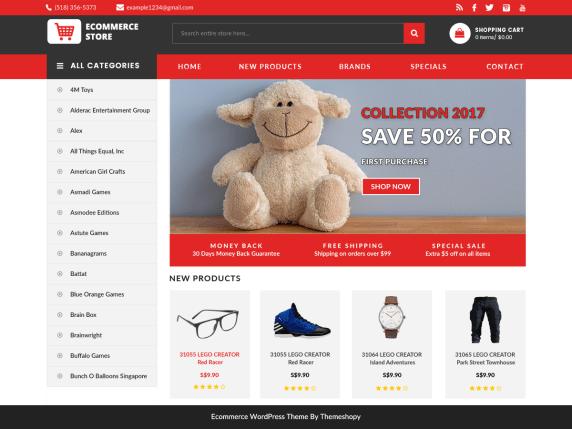 Ecommerce Free WordPress Themes - Wordpress ecommerce templates