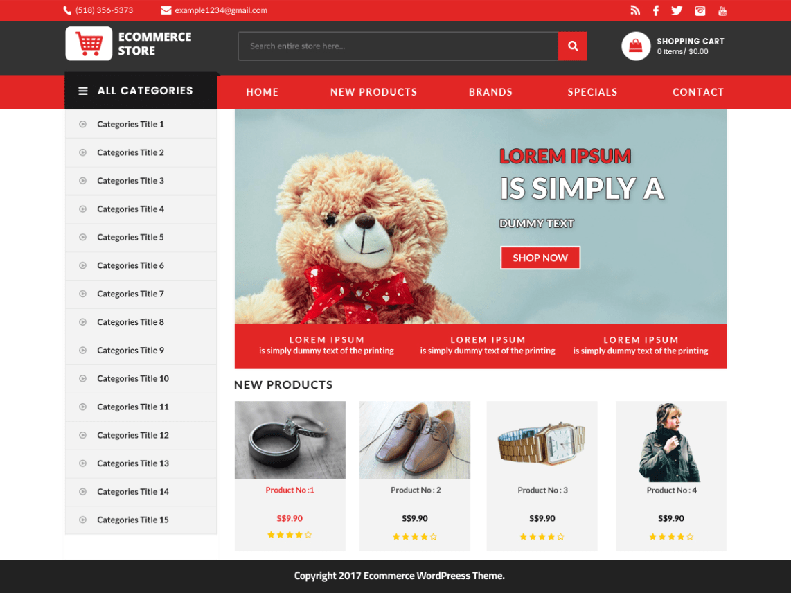 effa8989c E-commerce Store is a free multipurpose E-commerce WordPress theme. E-commerce  Store is an elegant E-commerce Woo-Commerce WordPress theme suitable for ...