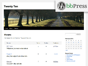 bbPress (Twenty Ten) free wordpress theme